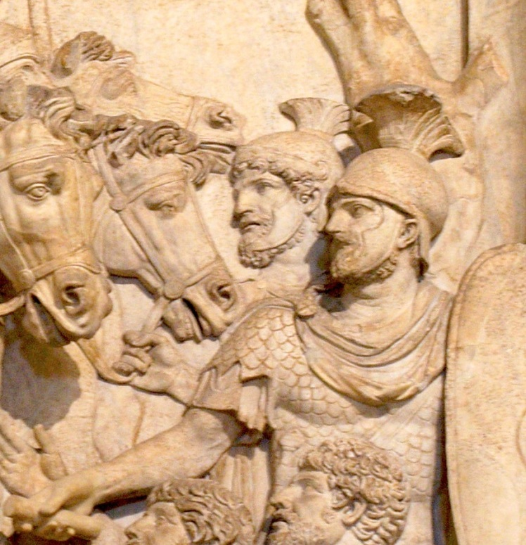 Bas_relief_from_Arch_of_Marcus_Aurelius_Marcus_Aurelius_showing_his_clemence_to_barbarii